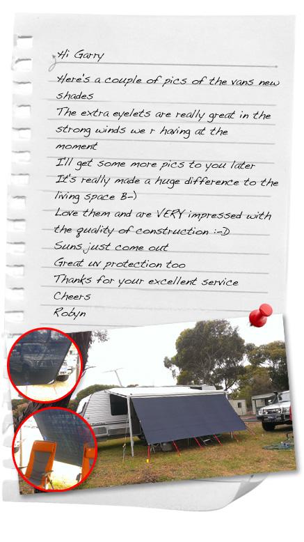 caravan awning testimonials
