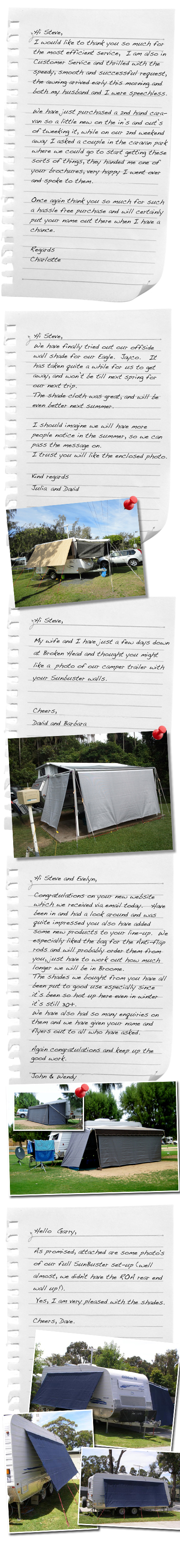 New Caravan Testimonials
